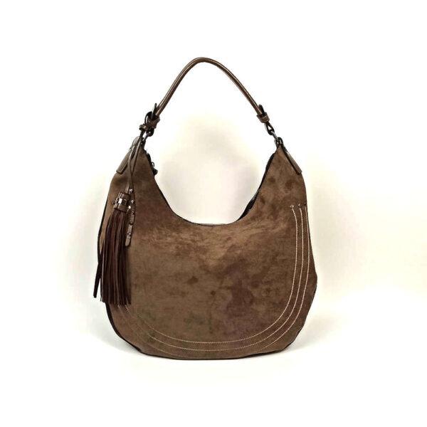 Τσάντα Ώμου Σουέτ Mi-Tu