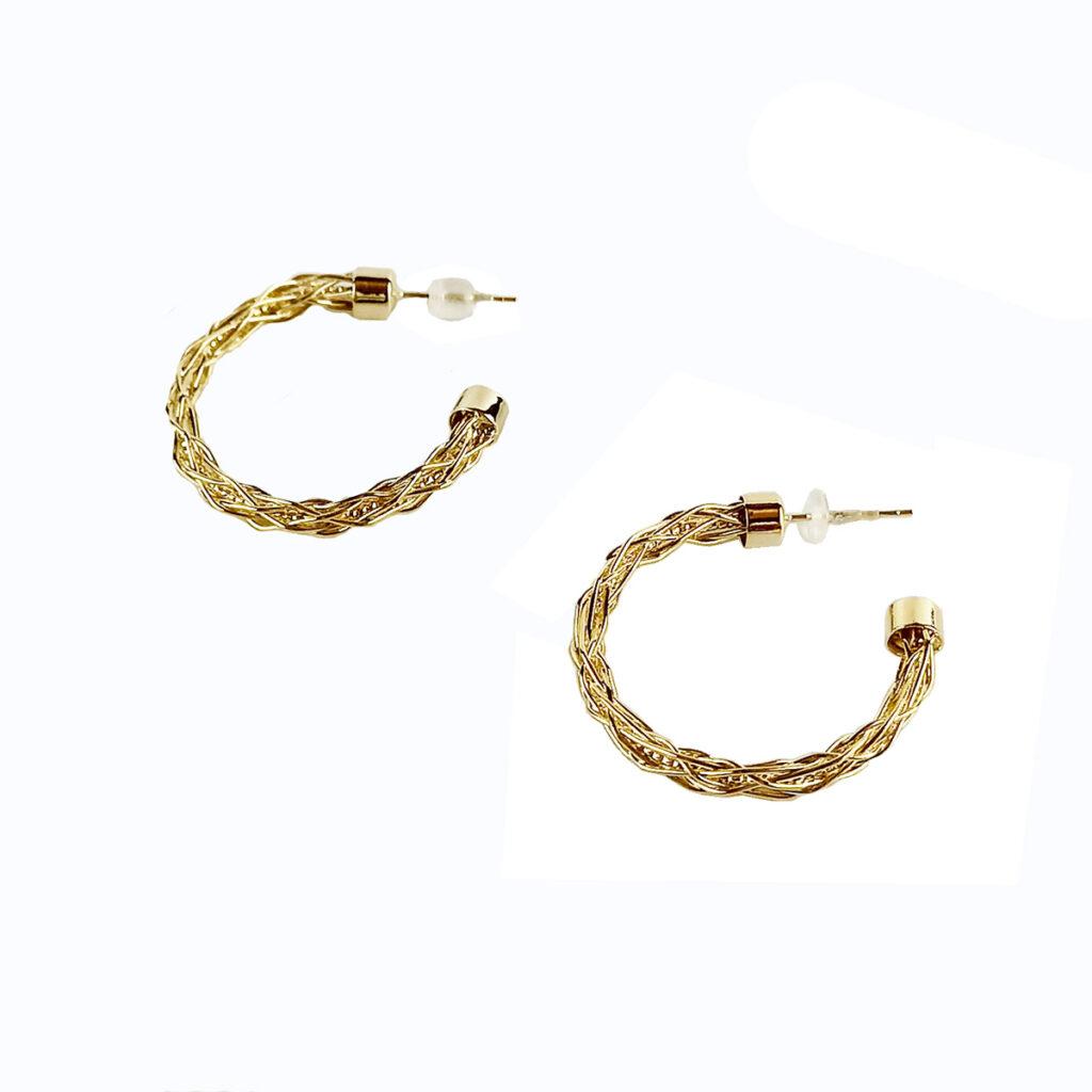 Σκουλαρίκια Κρίκοι Με Κούμπωμα