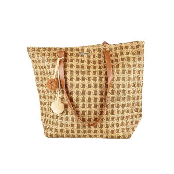 Ψάθινη Τσάντα Θαλάσσης Bag to bag