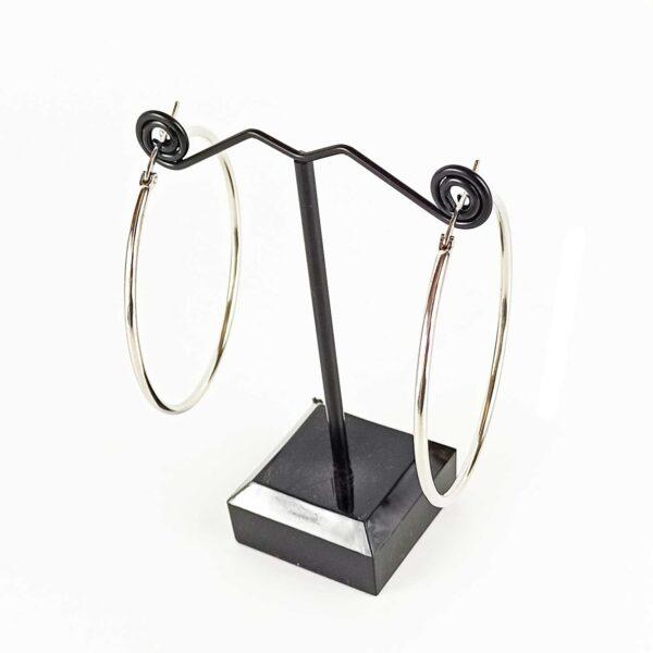 Ατσάλινα σκουλαρίκια κρίκοι με κούμπωμα