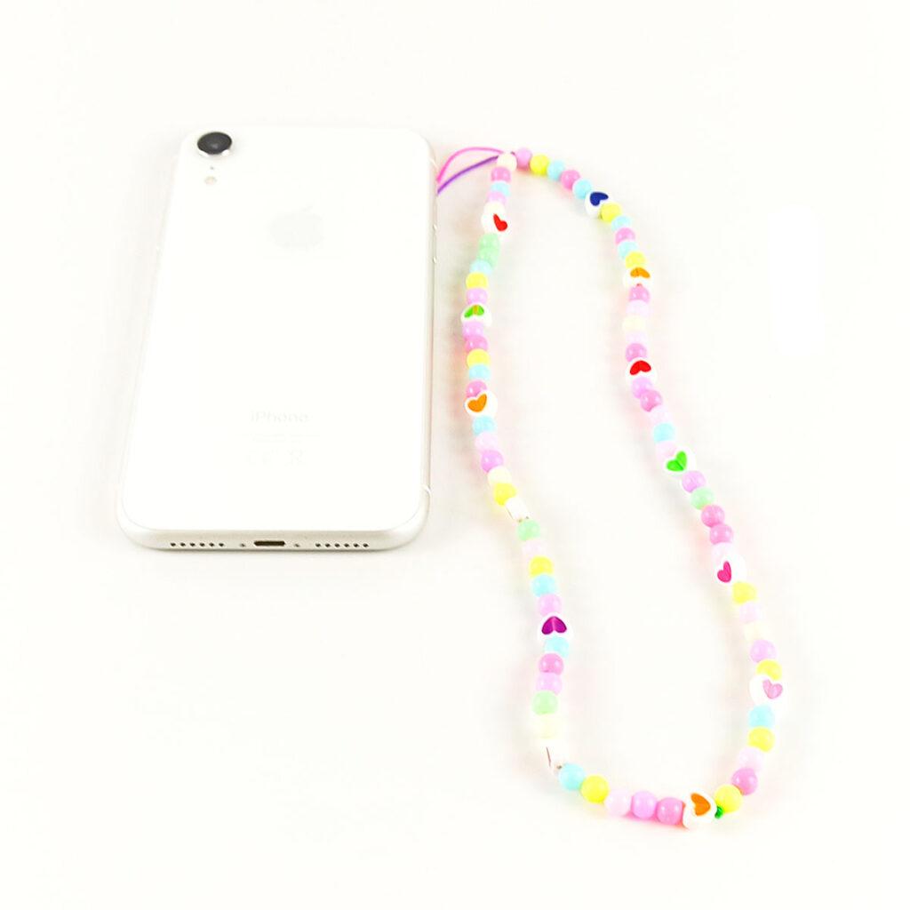 Βραχιόλι κινητού ( Phone strap ) με καρδούλες